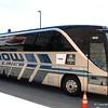 The Florida Gators bus arrives at TD Ameritrade Park.