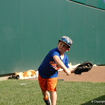 Florida Gators coach Kevin O'Sullivan's son plays catch as the Gators prepare for their opening game against TCU in the 2017 College World Series. June 18th, 2017. GatorCountry photo taken by Nick de la Torre.
