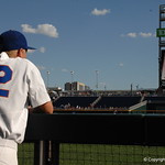 Florida Gators first baseman JJ Schwarz prepares for the opening game against TCU in the 2017 College World Series. June 18th, 2017. GatorCountry photo taken by Nick de la Torre.