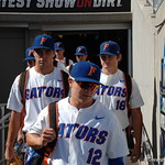 Florida Gators infielder Blake Reese enters the stadium for the opening game against TCU in the 2017 College World Series. June 18th, 2017. GatorCountry photo taken by Nick de la Torre.
