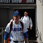 Florida Gators closer Michael Byrne enters the stadium for the opening game against TCU in the 2017 College World Series. June 18th, 2017. GatorCountry photo taken by Nick de la Torre.