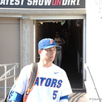 Florida Gators shortstop Dalton Guthrie enters the stadium for the opening game against TCU in the 2017 College World Series. June 18th, 2017. GatorCountry photo taken by Nick de la Torre.
