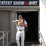 Florida Gators pitcher Nick Horvath enters the stadium for the opening game against TCU in the 2017 College World Series. June 18th, 2017. GatorCountry photo taken by Nick de la Torre.