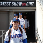 Florida Gators pitcher Frank Rubio enters the stadium for the opening game against TCU in the 2017 College World Series. June 18th, 2017. GatorCountry photo taken by Nick de la Torre.