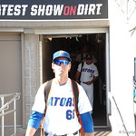Florida Gators outfielder Ryan Larson prepares for the opening game against TCU in the 2017 College World Series. June 18th, 2017. GatorCountry photo taken by Nick de la Torre.