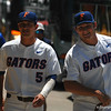 Florida Gators shortstop Dalton Guthrie and pitcher Tyler Dyson arrive at TD Ameritrade Park for the 2017 College World Series.