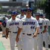 Florida Gators freshman outfielder/pitcher Austin Langworthy arrives at TD Ameritrade park for the 2017 College World Series.