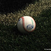 A baseball with the Florida Gators logo at TD Ameritrade Park.