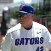 Florida Gators assistant baseball coach Brad Weitzel arrives at TD Ameritrade Park for the 2017 College World Series.