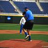Florida Gators junior Alex Faedo throws a pitch off the mound at TD Ameritrade Park.