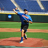 Florida Gators junior Alex Faedo throws a pitch off the mound at TD Ameritrade Park.