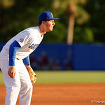 University of Florida Gators infielder Jonathan India getting set at third base as the Gators host and defeat the Florida State Seminoles 1-0 at McKethan Stadium. March 14th, 2017. Gator Country photo by David Bowie.
