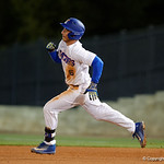 University of Florida Gators infielder Jonathan India doubles as the Gators host and defeat the Florida State Seminoles 1-0 at McKethan Stadium. March 14th, 2017. Gator Country photo by David Bowie.