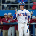 University of Florida Gators infielder Deacon Liput reacts after striking out as the Gators host and defeat the Florida State Seminoles 1-0 at McKethan Stadium. March 14th, 2017. Gator Country photo by David Bowie.