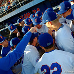 The FLorida Gators baseball team prepare to take the field as the Gators host and defeat the Florida State Seminoles 1-0 at McKethan Stadium. March 14th, 2017. Gator Country photo by David Bowie.