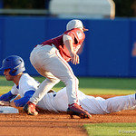 University of Florida Gators infielder Jonathan India stealing second base as the Gators host and defeat the Florida State Seminoles 1-0 at McKethan Stadium. March 14th, 2017. Gator Country photo by David Bowie.
