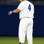 University of Florida Gators catcher Mike Rivera doubles as the Gators host and defeat the Florida State Seminoles 1-0 at McKethan Stadium. March 14th, 2017. Gator Country photo by David Bowie.