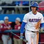University of Florida Gators infielder Jonathan India after striking out as the Gators host and defeat the Florida State Seminoles 1-0 at McKethan Stadium. March 14th, 2017. Gator Country photo by David Bowie.