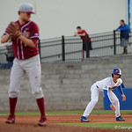 University of Florida Gators infielder Jonathan India leads off from first base as the Gators host and defeat the Florida State Seminoles 1-0 at McKethan Stadium. March 14th, 2017. Gator Country photo by David Bowie.