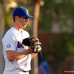 University of Florida Gators pitcher Nate Brown on the mound pitching as the starting pitcher, as the Gators host and defeat the Florida State Seminoles 1-0 at McKethan Stadium. March 14th, 2017. Gator Country photo by David Bowie.
