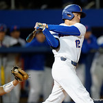 University of Florida Gators infielder Blake Reese striking out as the Gators host and defeat the Florida State Seminoles 1-0 at McKethan Stadium. March 14th, 2017. Gator Country photo by David Bowie.