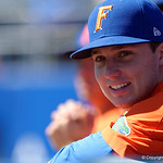 University of Florida Gators pitcher Kirby McMullen during pre-game as the Gators sweep the series over the University of Miami Hurricanes with a 6-2 win at McKethan Stadium. February 26th, 2017. Gator Country photo by David Bowie.