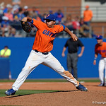 University of Florida Gators pitcher Austin Langworthy on the mound in relief as the Gators sweep the series over the University of Miami Hurricanes with a 6-2 win at McKethan Stadium. February 26th, 2017. Gator Country photo by David Bowie.