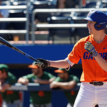 University of Florida Gators infielder Christian Hicks getting ready at the plate as the Gators sweep the series over the University of Miami Hurricanes with a 6-2 win at McKethan Stadium. February 26th, 2017. Gator Country photo by David Bowie.