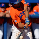 University of Florida Gators outfielder Nelson Maldonado at the plate as the Gators sweep the series over the University of Miami Hurricanes with a 6-2 win at McKethan Stadium. February 26th, 2017. Gator Country photo by David Bowie.