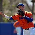 University of Florida Gators infielder Dalton Guthrie throwing during pre-game as the Gators sweep the series over the University of Miami Hurricanes with a 6-2 win at McKethan Stadium. February 26th, 2017. Gator Country photo by David Bowie.