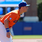 University of Florida Gators infielder Jonathan India getting set for a pitch as the Gators sweep the series over the University of Miami Hurricanes with a 6-2 win at McKethan Stadium. February 26th, 2017. Gator Country photo by David Bowie.