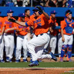 University of Florida Gators outfielder Nick Horvath sliding into home as the Gators sweep the series over the University of Miami Hurricanes with a 6-2 win at McKethan Stadium. February 26th, 2017. Gator Country photo by David Bowie.