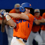 University of Florida Gators infielder Deacon Liput swings away at a pitch as the Gators fall 4-2 to the South Carolina Gamecocks at McKethan Stadium. April 21st, 2017. Gator Country photo by David Bowie.
