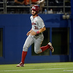 South Carolina catcher Chris Cullen rounds third base and heads home to put the Gamecocks up 3-1 as the Gators fall 4-2 to the South Carolina Gamecocks at McKethan Stadium. April 21st, 2017. Gator Country photo by David Bowie.