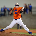 University of Florida Gators pitcher Tyler Dyson pitching as the Gators fall 4-2 to the South Carolina Gamecocks at McKethan Stadium. April 21st, 2017. Gator Country photo by David Bowie.