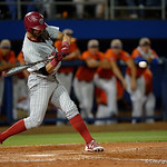 South Carolina swings away at a pitch as the Gators fall 4-2 to the South Carolina Gamecocks at McKethan Stadium. April 21st, 2017. Gator Country photo by David Bowie.