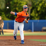 University of Florida Gators pitcher Brady Singer pitching as the Gators fall 4-2 to the South Carolina Gamecocks at McKethan Stadium. April 21st, 2017. Gator Country photo by David Bowie.