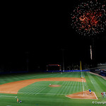 Fireworks are shot into the sky over McKethan Stadium as the Florida Gators fall 4-2 to the South Carolina Gamecocks. April 21st, 2017. Gator Country photo by David Bowie.