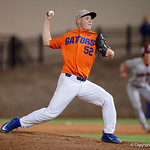 University of Florida Gators pitcher Kirby McMullen pitching as the Gators fall 4-2 to the South Carolina Gamecocks at McKethan Stadium. April 21st, 2017. Gator Country photo by David Bowie.