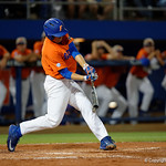 University of Florida Gators catcher JJ Schwarz swings away at a pitch as the Gators fall 4-2 to the South Carolina Gamecocks at McKethan Stadium. April 21st, 2017. Gator Country photo by David Bowie.
