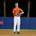 University of Florida Gators outfielder Ryan Larson reacts after grounding out with the bases loaded as the Gators fall 4-2 to the South Carolina Gamecocks at McKethan Stadium. April 21st, 2017. Gator Country photo by David Bowie.