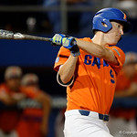 University of Florida Gators infielder Christian Hicks swings away at a pitch as the Gators fall 4-2 to the South Carolina Gamecocks at McKethan Stadium. April 21st, 2017. Gator Country photo by David Bowie.