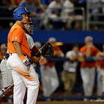 University of Florida Gators outfielder Keenan Bell after striking out as the Gators fall 4-2 to the South Carolina Gamecocks at McKethan Stadium. April 21st, 2017. Gator Country photo by David Bowie.