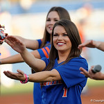 Florida Gators Cheerleaders cheer on for the crowd as the Gators fall 4-2 to the South Carolina Gamecocks at McKethan Stadium. April 21st, 2017. Gator Country photo by David Bowie.
