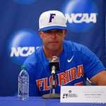 University of Florida Gators baseball head coach Kevin O'Sullivan during the post-game press conference as the University of Florida Gators defeat the Wake Forest Demon Deacons 3-0 during Game 3 of the 2017 NCAA Super Regionals at McKethan Stadium.  June 12th, 2017. Gator Country photo by David Bowie.