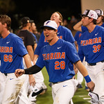 University of Florida Gators catcher Mark Kolozsvary as the University of Florida Gators celebrate defeating the Wake Forest Demon Deacons 3-0 during Game 3 of the 2017 NCAA Super Regionals at McKethan Stadium.  June 12th, 2017. Gator Country photo by David Bowie.