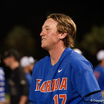 University of Florida Gators pitcher Michael Byrne as the University of Florida Gators celebrate defeating the Wake Forest Demon Deacons 3-0 during Game 3 of the 2017 NCAA Super Regionals at McKethan Stadium.  June 12th, 2017. Gator Country photo by David Bowie.