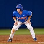 University of Florida Gators infielder Deacon Liput leads off of second base as the University of Florida Gators defeat the Wake Forest Demon Deacons 3-0 during Game 3 of the 2017 NCAA Super Regionals at McKethan Stadium.  June 12th, 2017. Gator Country photo by David Bowie.