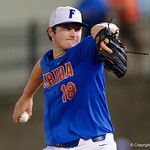 University of Florida Gators pitcher Tyler Dyson pitching as the University of Florida Gators defeat the Wake Forest Demon Deacons 3-0 during Game 3 of the 2017 NCAA Super Regionals at McKethan Stadium.  June 12th, 2017. Gator Country photo by David Bowie.