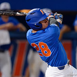 University of Florida Gators catcher Mark Kolozsvary at the plate, as the University of Florida Gators defeat the Wake Forest Demon Deacons 3-0 during Game 3 of the 2017 NCAA Super Regionals at McKethan Stadium.  June 12th, 2017. Gator Country photo by David Bowie.